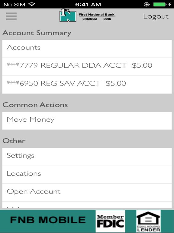 FNB Chisholm iOS Application Version 17 1 1 1 - iOSAppsGames