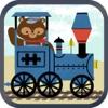儿童火车游戏:动物园铁路汽车拼图