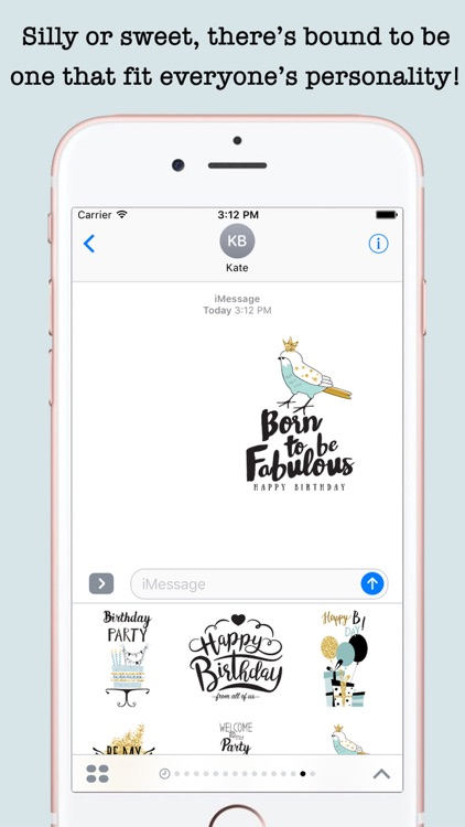 Happy Birthday Card Wishes For iMessage screenshot-4