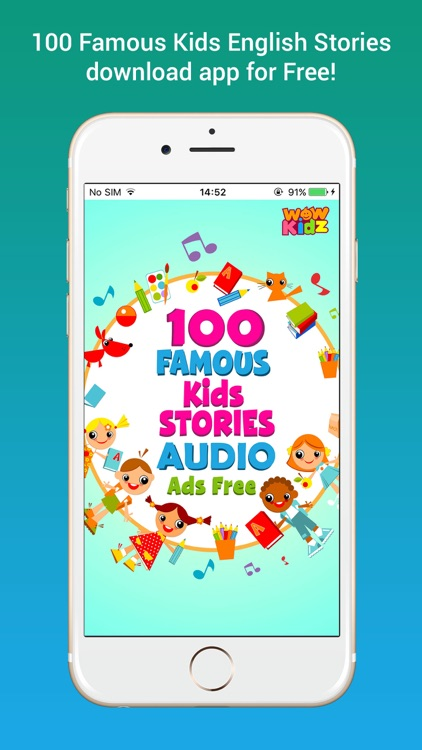 100 Famous English Audio Stories Without ads