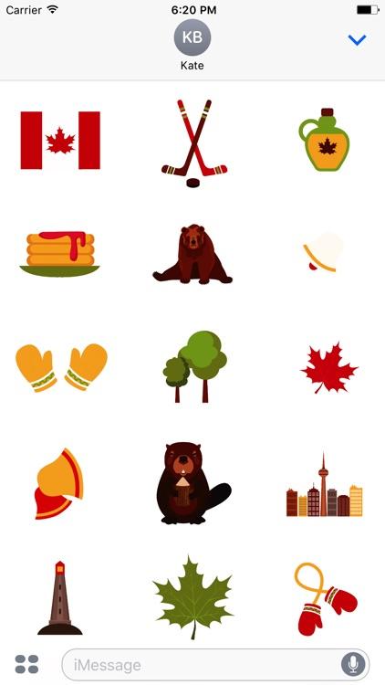 Animated I Love Canada Stickers screenshot-3