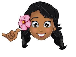 Pidginmoji Wahine is local kine stickahs