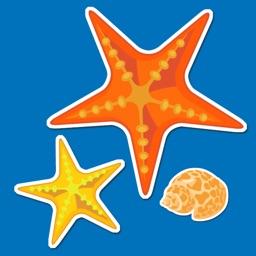 Beach Ocean and Nautical Sticker Pack