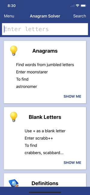 Anagram Solver - Crosswords on the App Store