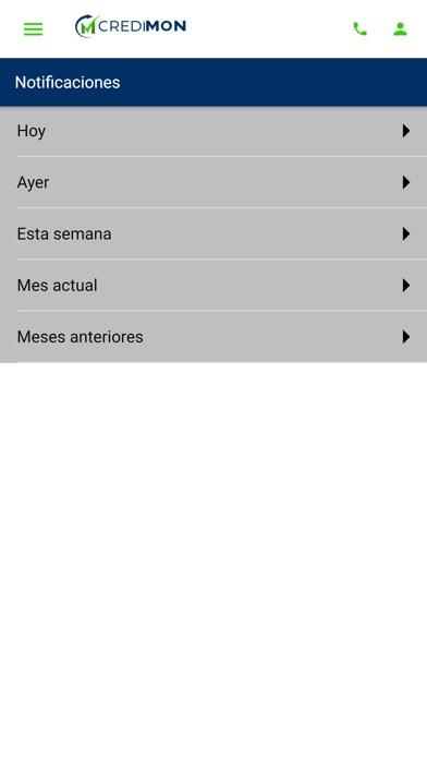 CREDIMON App Screenshot