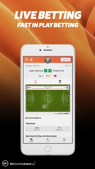 LeoVegas Sports Betting screenshot two