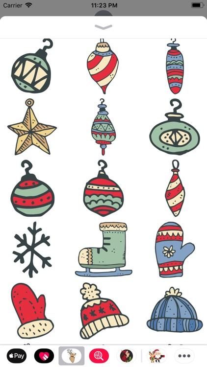 Christmas Doodles Sticker Pack screenshot-3
