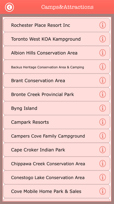 Ontario Camping & Trails,Parks screenshot three