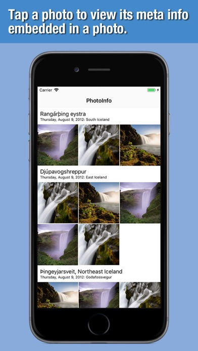 PhotoInfo - Meta Info Viewer screenshot one