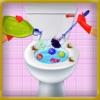 洗面所の清掃ゲーム