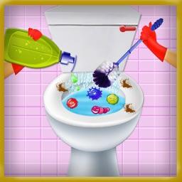 Washroom Repair Cleaning Game