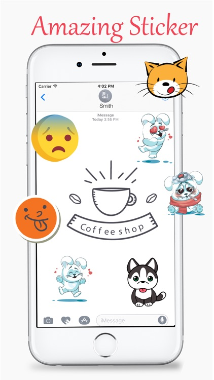Cats and Coffee Lovers Stickers Pack screenshot-4
