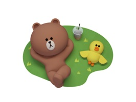 Brown 3D - LINE FRIENDS