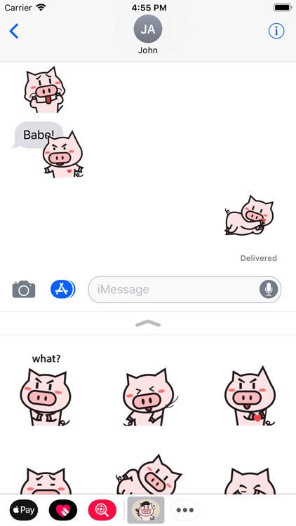 Little Pig Animated Stickers