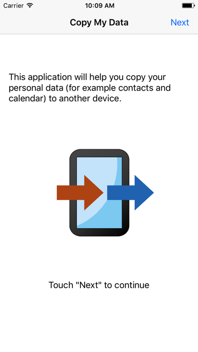 Copy My Data Screenshot