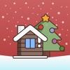 クリスマスステッカーとフレーズ