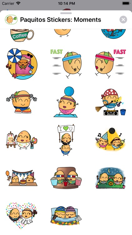 Paquitos Stickers: Moments screenshot-4