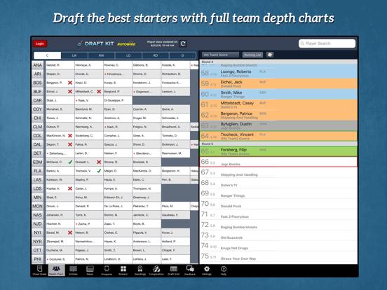 Fantasy Hockey Draft Kit '18 screenshot 7