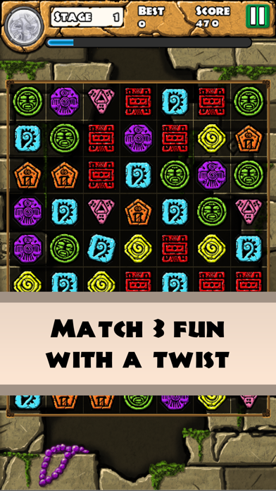 Aztec Temple Quest - Match 3 screenshot one