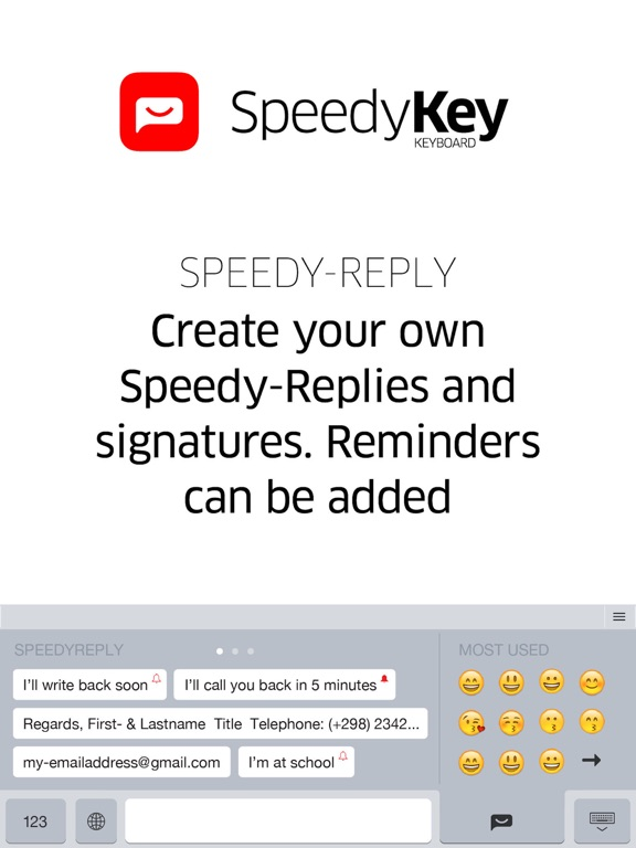 SpeedyKey Keyboard screenshot