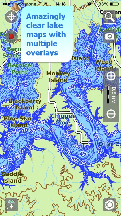 Aqua Map Missouri Lakes GPS HD screenshot-0