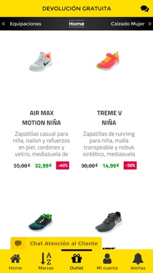 Oteros Zapatillas online on the App Store