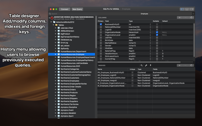 SQLPro Studio Screenshot