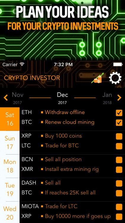 Cryptocurrency Invest Manager