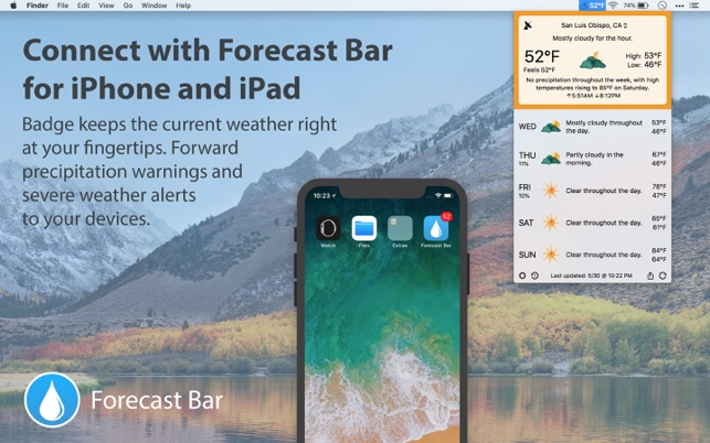 Forecast Bar - Weather + Radar Screenshot