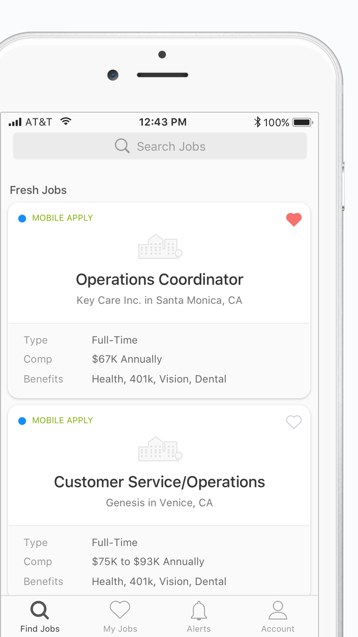 ZipRecruiter Job Search Screenshot