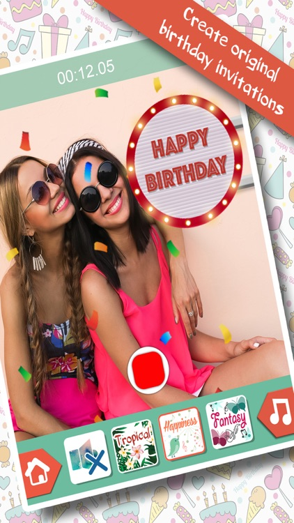 Birthday Gifs - Video Editor screenshot-3