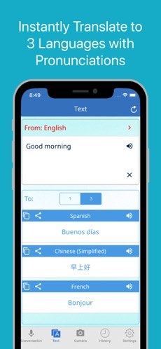 Multi Translate Voice Converts Over 100 Languages by Speech and Text Image