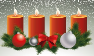 AdventTV - Make your TV to an advent wreath with candles