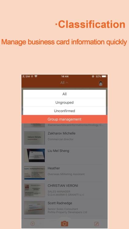WeCard-business card scanner screenshot-3