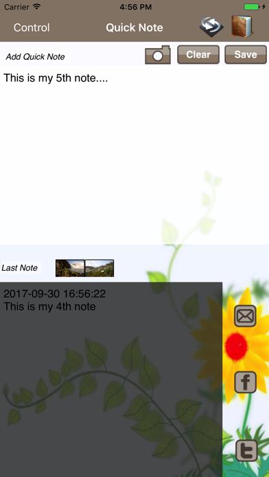 Quick Diary screenshot one