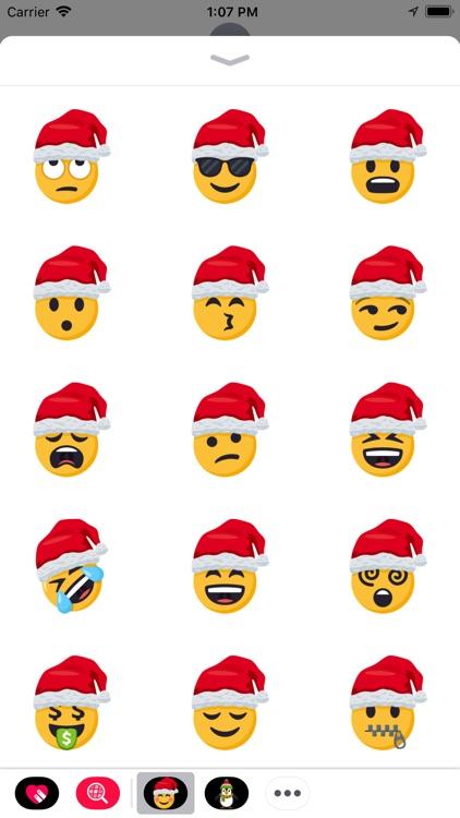 Santa Smiley Pack: by EmojiOne