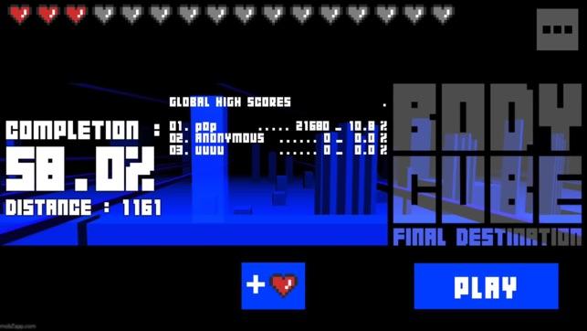 Body Cube Final Destination TV, game for IOS