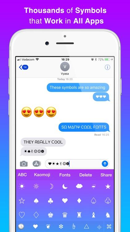 Cool Symbols Keyboard Fonts By Vyasa