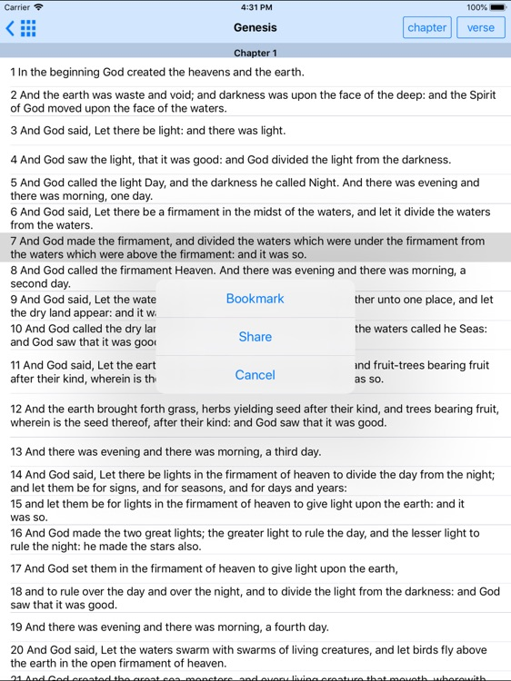 Holy Bible ASV Offline HD screenshot-4
