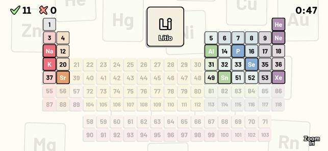 Tabla peridica quiz en app store tabla peridica quiz en app store urtaz Choice Image