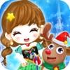 公主魔法学院 - 冰雪女王的化妆换装游戏