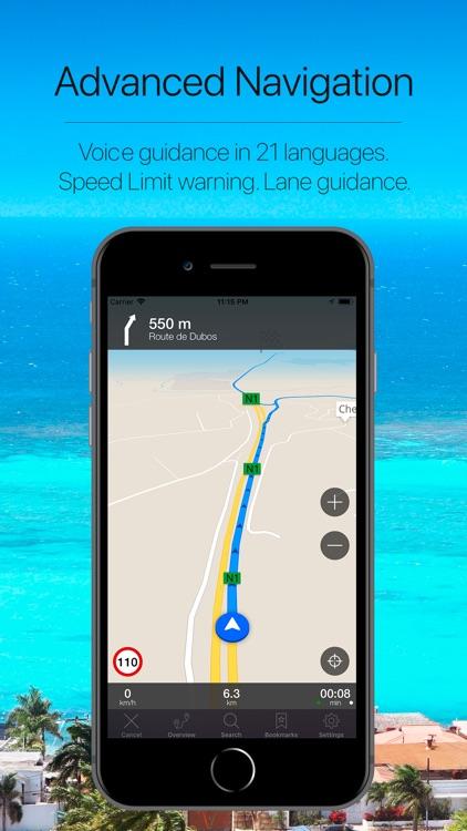 Guadeloupe Offline Navigation screenshot-3