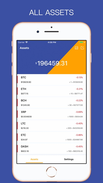 MyCoin-BTC ETH Accounting App screenshot-0