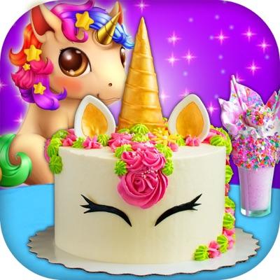 Unicorn Food Party Cake Slushy ios app