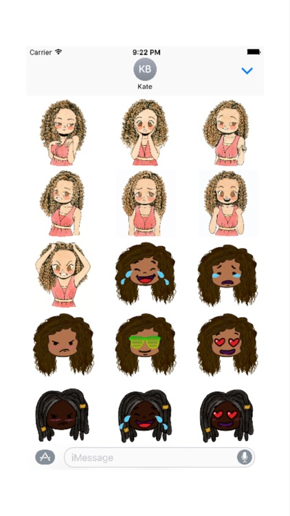 CurlyGirlMoji screenshot-2