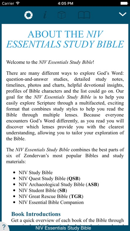 NIV Essentials Study Bible screenshot-1