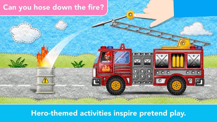 Kids Vehicles Fire Truck games screenshot-5