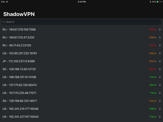 Shadow VPN - Proxy List   App Price Drops