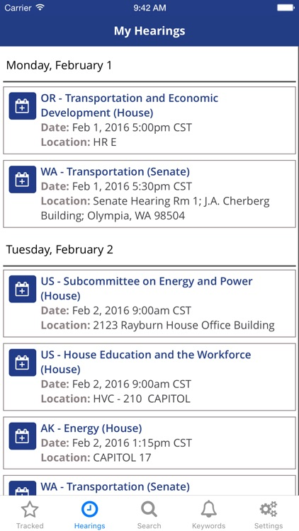 TrackBill: Legislation Tracker screenshot-3