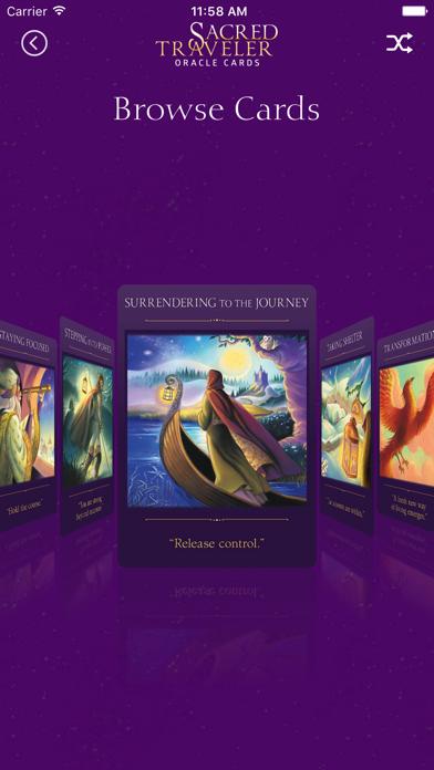 Sacred Traveler Oracle Cards screenshot 5